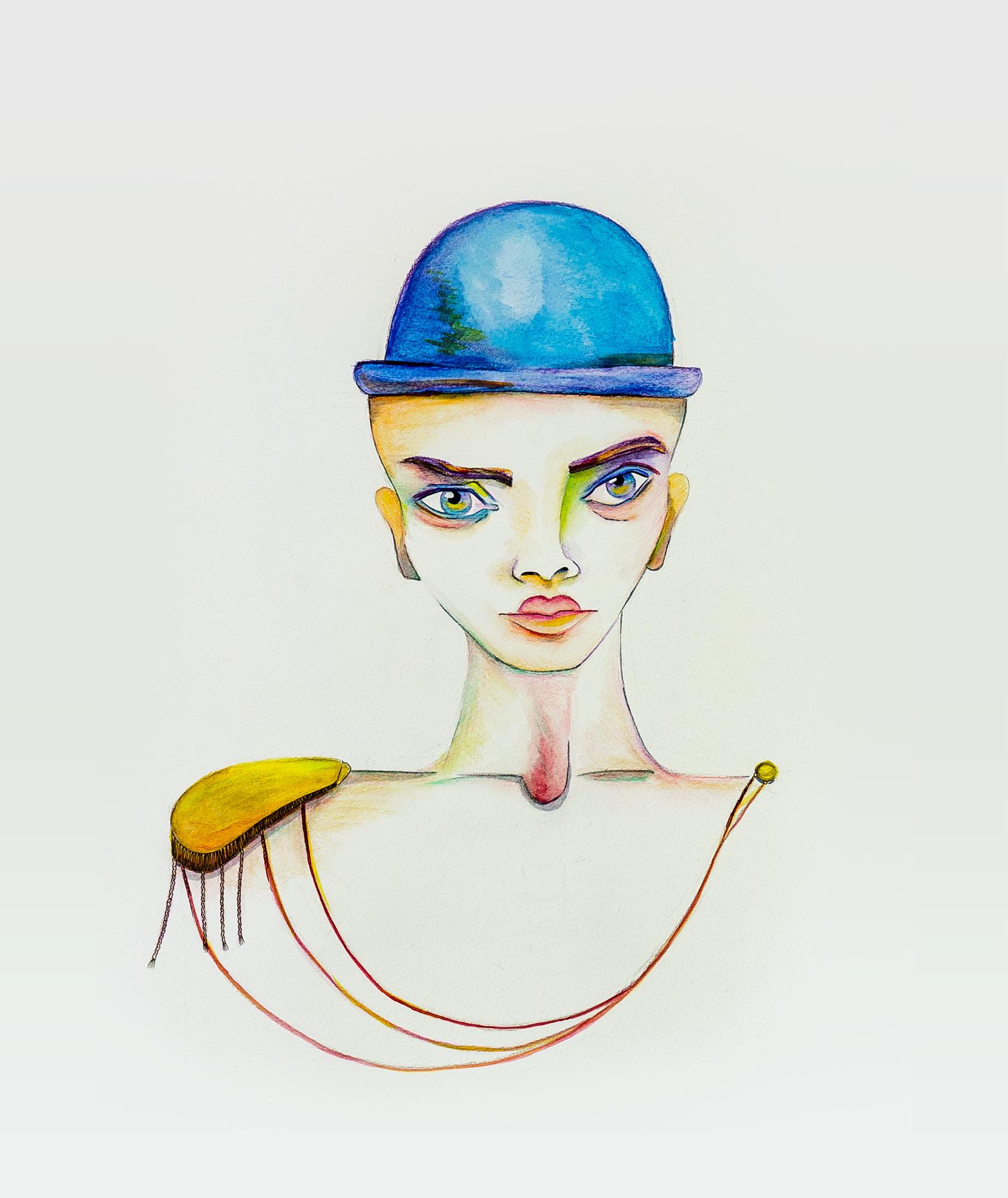 Porträt mit Hut