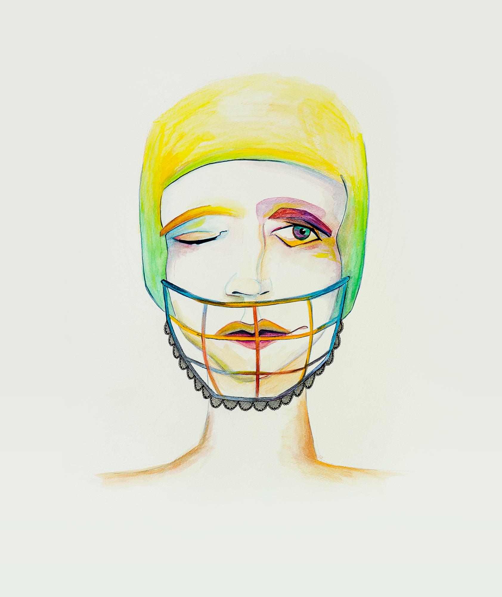 Porträt mit Football-Helm