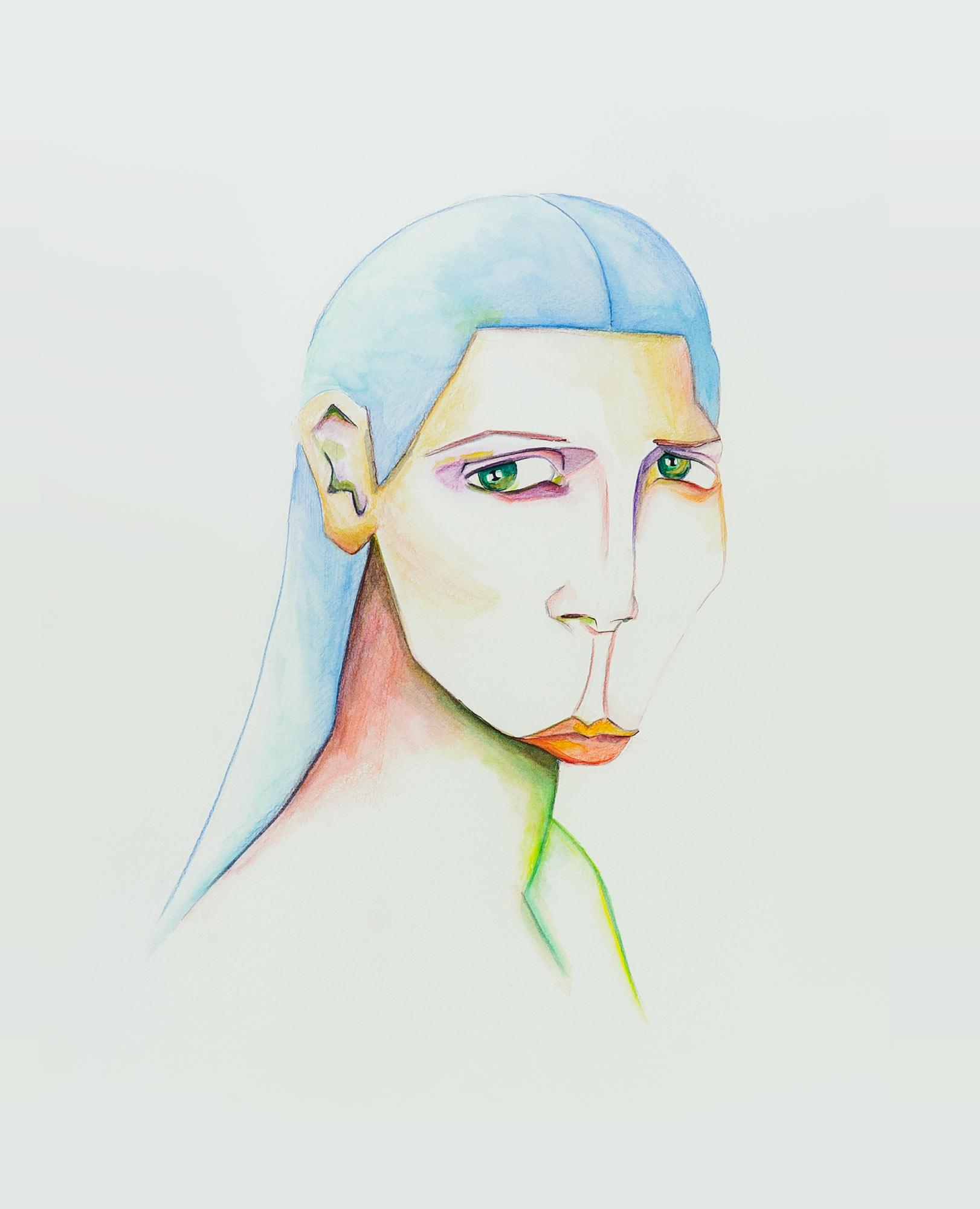 Porträt mit beleidigtem Mund