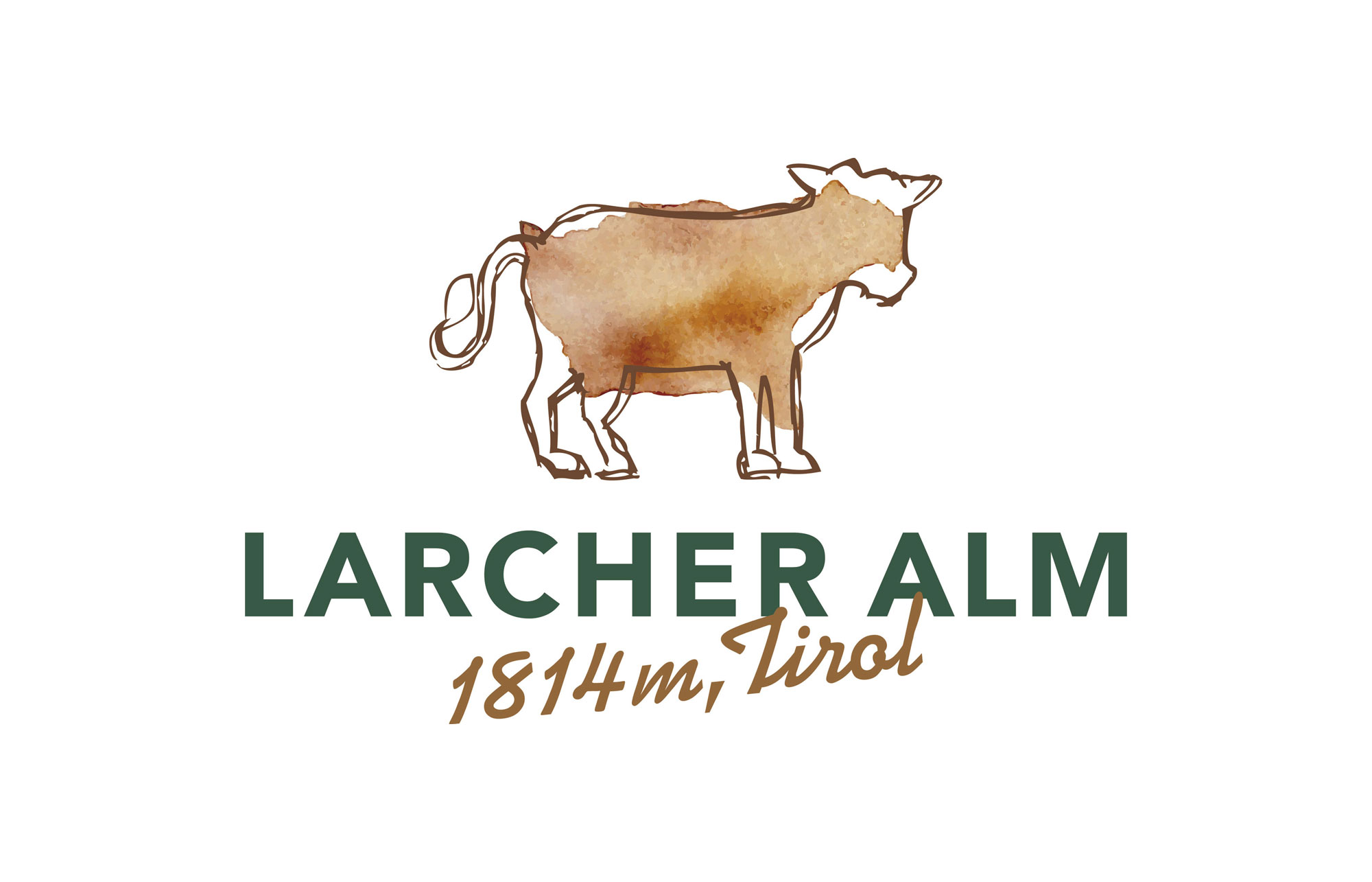 Das fertige Larcher Alm Logo inkl. Schriftzug